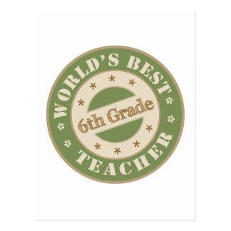 El mejor sexto profesor del grado de los mundos tarjetas postales