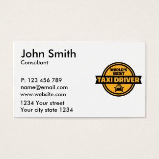 El mejor taxista del mundo tarjeta de negocios