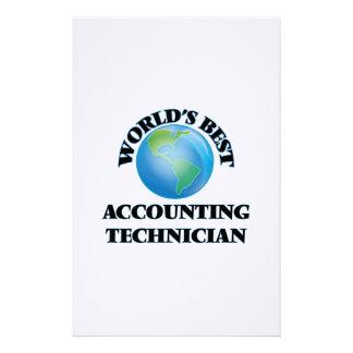 El mejor técnico de la contabilidad del mundo  papeleria de diseño