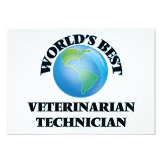 El mejor técnico veterinario del mundo invitación 12,7 x 17,8 cm