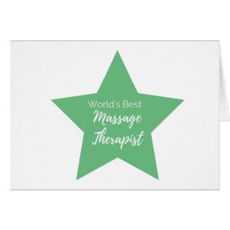 El mejor terapeuta del masaje del mundo tarjeta de felicitación