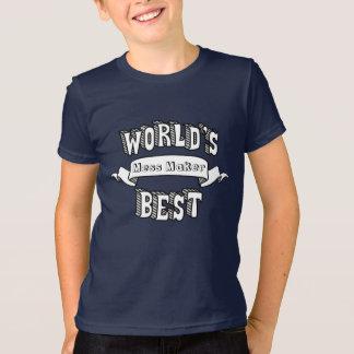 El mejor texto en blanco de la tipografía del camiseta