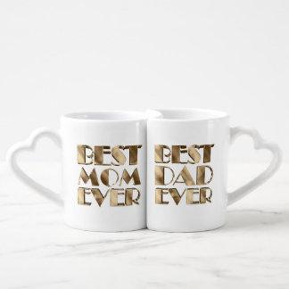 El mejor texto siempre mejor de la mirada del oro set de tazas de café