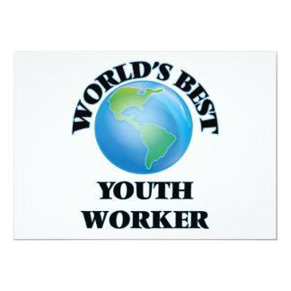 El mejor trabajador de la juventud del mundo invitación 12,7 x 17,8 cm