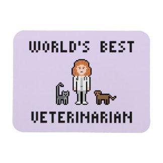 El mejor veterinario de sexo femenino del mundo iman de vinilo