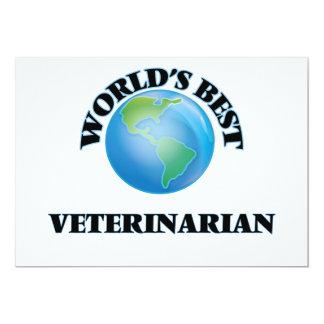 El mejor veterinario del mundo invitación 12,7 x 17,8 cm