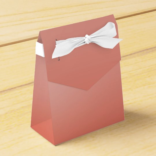 El melocotón coralino sumergió favor de fiesta de caja para regalos
