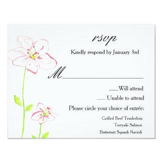 El melocotón florece casando la tarjeta de la invitación 10,8 x 13,9 cm