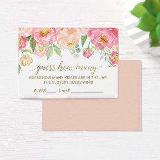 El melocotón y el rosa conjeturan cuántos besan tarjeta de visita