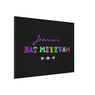 """ÉL """" memoria ELÉCTRICA de Mitzvah de la barra de S Impresión En Lienzo"""