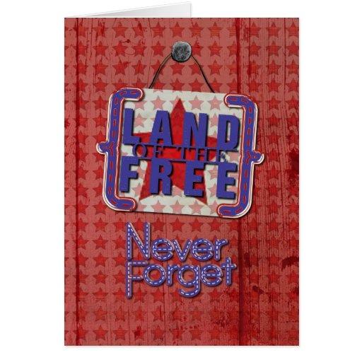 El Memorial Day nunca olvida la tierra del rústico Tarjetón