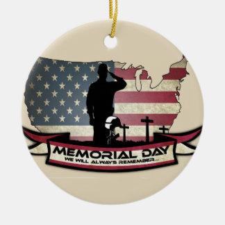 El Memorial Day único honra el ornamento del