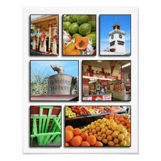 El mercado del granjero de Los Ángeles Arte Con Fotos