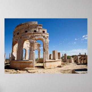 El mercado, Leptis Magna, distrito de Al Khums Posters