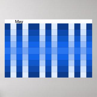 El mes del poster del arco iris del color puede