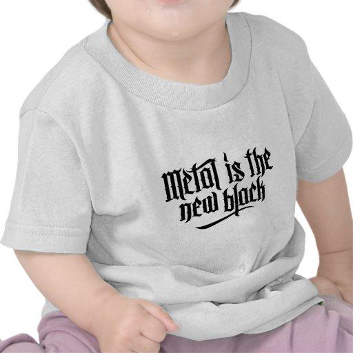 El metal es el nuevo negro No.1 (el negro) Camisetas