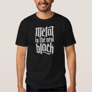 El metal es el nuevo negro No.2 (blanco) Camisetas