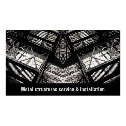 el metal estructura negocio del servicio y de la i plantillas de tarjeta de negocio