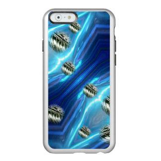 El metal flotante de la lluvia cósmica cae el caso funda para iPhone 6 plus incipio feather shine