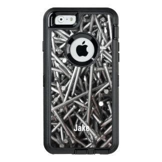El metal moderno del trabajador de construcción funda otterbox para iPhone 6/6s