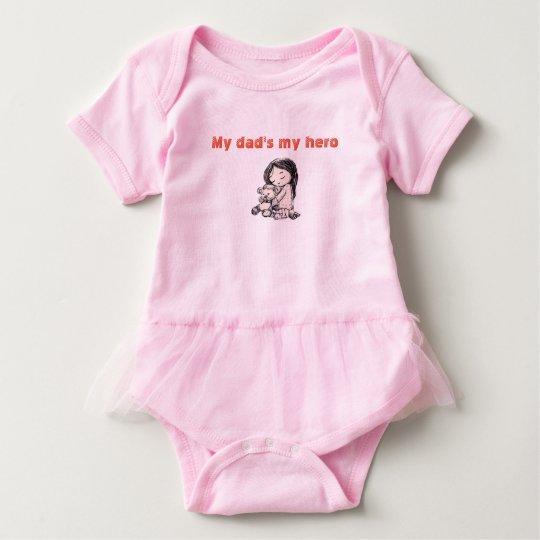 el mi héroe del papá body para bebé