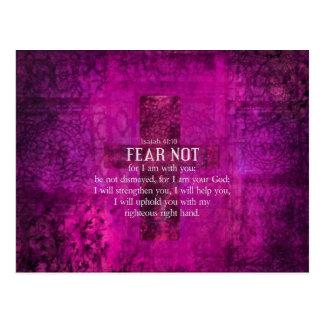El miedo del 41:10 de Isaías no, porque yo estamos Postal