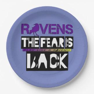 ¡El miedo del fútbol de Baltimore está detrás!! Plato De Papel