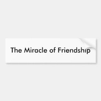 El milagro de la amistad etiqueta de parachoque