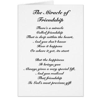 El milagro de la amistad felicitacion
