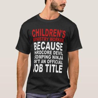 El ministerio de los niños - diablo incondicional camiseta