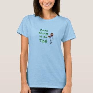 El mirar fijamente la camiseta de mis mujeres de