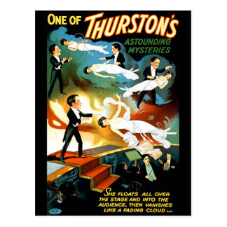 ¡El misterio asombroso de Thurston! Postal