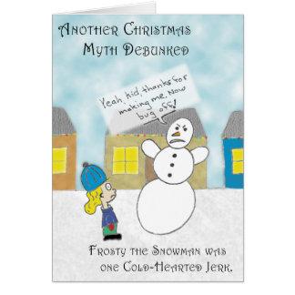 El mito escarchado tarjeta de felicitación