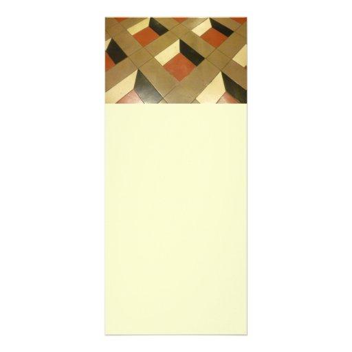 El modelo de la ilusión óptica del piso teja el ph tarjetas publicitarias personalizadas