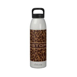 El modelo de la impresión de la piel de la jirafa  botella de agua