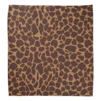 El modelo de la impresión de la piel de la jirafa bandanas