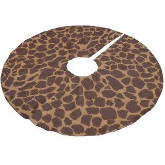 El modelo de la impresión de la piel de la jirafa falda de árbol de navidad de poliéster