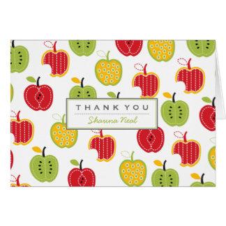 El modelo de las manzanas de la cosecha le tarjeta pequeña