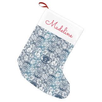 El modelo marino el | del vintage añade su nombre calcetín navideño pequeño