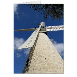 El molino de viento de Mishkenot Sha'ananim Tarjeta