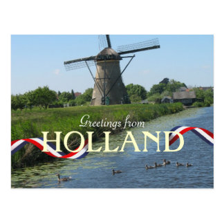 El molino de viento holandés Ducks la postal