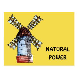 El molino de viento postal
