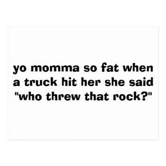 el momma del yo tan gordo cuando un camión la postal