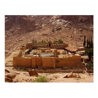 El monasterio Sinaí Egipto de Catherine antigua de Tarjetas Postales