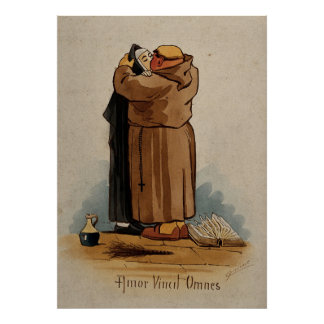 El monje que besa a la monja, amor conquista póster