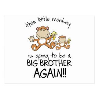 el monkeying alrededor otra vez tarjeta postal