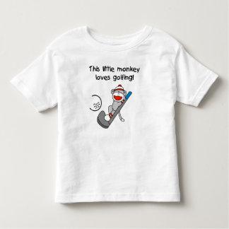 El mono ama el Golfing de las camisetas y de los