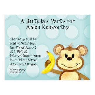 El mono de Lil, postal de la fiesta de cumpleaños