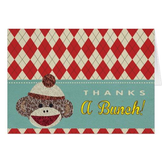 El mono del calcetín le agradece las tarjetas