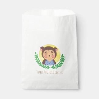 El mono lindo bolsa de papel